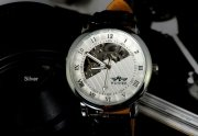 Ceas superb WINNER MECANIC FULL Automatic Skeleton Barbati Auriu,...