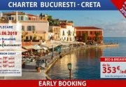 Early Booking Charter Bucuresti- Creta de la 353 euro/pers taxe incluse,...