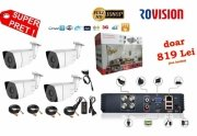 Kit complet 4 camere supraveghere Full HD, Infrarosu 30m, ROVISION